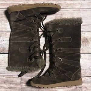 ZeroXposur Winter Suede Boots Alpine Brown Sz 7